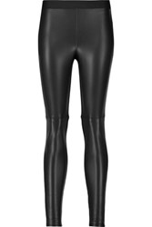 Bailey 44 Faux Leather And Jersey Leggings Black