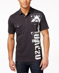 Inc International Concepts Men's Morse Code Graphic Print Polo Only At Macy's Dark Lead