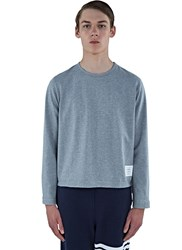 Thom Browne Heavyweight Buttoned Long Sleeved Top Grey