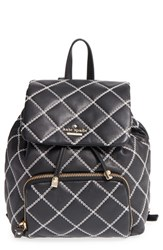 Kate Spade New York 'Emerson Place Jessa' Quilted Leather Backpack Black Black Cement