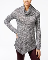 Amy Byer Bcx Juniors' Asymmetrical Cowl Neck Sweater Grey Combo