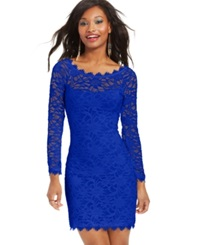 Jump Juniors' Lace Sheath Dress Royal