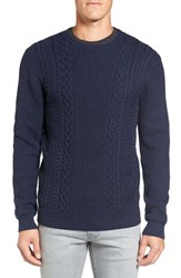 Rodd And Gunn Men's 'Mosgiel' Crewneck Merino Cable Rib Knit Sweater