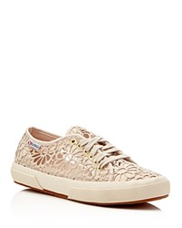 Superga Cotropew Crochet Lace Up Sneakers Beige