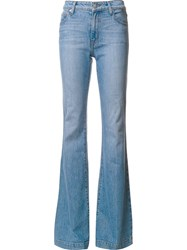Derek Lam 10 Crosby Light Wash Flared Jeans Blue