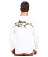 O'neill Yelafin Long Sleeve Screen Tee White Men's T Shirt