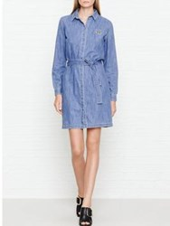 Kenzo Light Denim Shirt Dress Blue