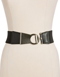 Fashion Focus Stretch Fashion Belt Black Silver