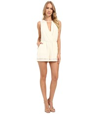 Adelyn Rae Keyhole Romper Ivory Women's Jumpsuit And Rompers One Piece White