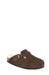 Birkenstock 'Boston' Genuine Shearling Lined Clog Women Mocha
