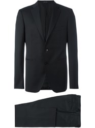 Tagliatore Fitted Business Suit Black