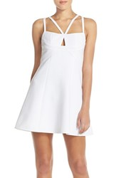 Women's Bcbgmaxazria 'Charlot' Cutout Crepe Fit And Flare Dress