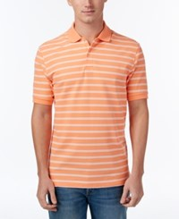 Club Room Men's Striped Polo Only At Macy's Melon Burst