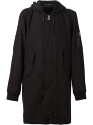 Blk Dnm Long Parka Black