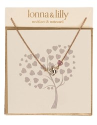 Lonna And Lilly Heart Pendant Necklace Pink