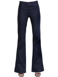 J Brand High Rise Tailored Flare Cotton Jeans
