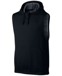 Nike Men's Dri Fit Sleeveless Hoodie Black