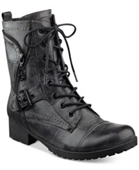 G By Guess Brylee Lace Up Combat Booties Women's Shoes Black