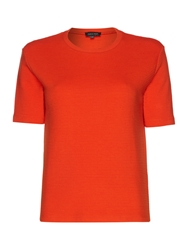 Pied A Terre Ribbed Boxy Tee Orange
