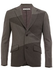 Anrealage 'Noise' Panel Blazer Grey
