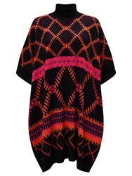 Alice By Temperley Somerset By Alice Temperley Intarsia Cape Pink Black