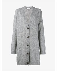 Golden Goose Oversized Mohair Blend Cardigan Grey Golden Black White