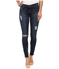Hudson Nico Mid Rise Ankle Skinny Distressed In Anchor Light 2 Anchor Light 2 Women's Jeans White