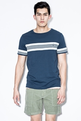 Lightning Bolt Ensign Blue Stripe Strike T Shirt