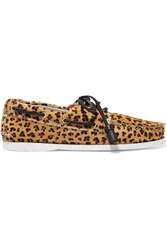 Topshop Unique Harpsden Leopard Print Calf Hair Boat Shoes Leopard Print