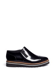 Vince 'Alona' Patent Leather Slip On Oxfords Black