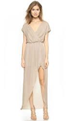 Rory Beca Plaza Overlap Gown Silver