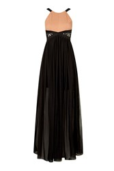 Contrast Lace Panel Maxi Dress By Rare Black