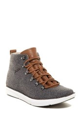 Ohw Dan Leather And Wool Lace Boot Gray