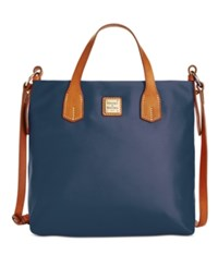 Dooney And Bourke Windham Cleo Letter Carrier Tote Navy