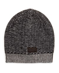 Penguin Clint Striped Beanie Hat Onyx