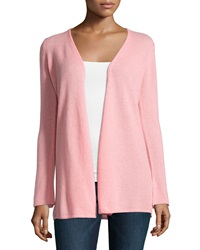 Minnie Rose Cashmere Open Front Duster Cardigan Pink Cadil