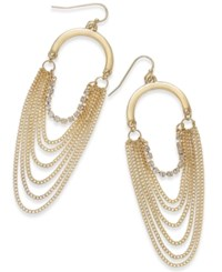 Thalia Sodi Crystal Gold Tone Multi Chain Drop Earrings Only At Macy's