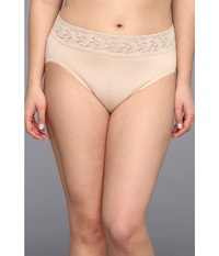 Hanky Panky Plus Size Organic Cotton Signature Lace French Brief Chai Women's Underwear Brown