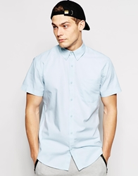 Only And Sons Short Sleeve Oxford Shirt Stratosphere