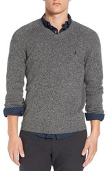 Original Penguin Men's V Neck Lambswool Sweater Dark Shadow