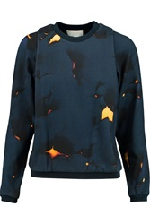 3.1 Phillip Lim Printed Cotton Terry Sweatshirt Blue