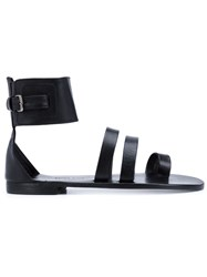 Anine Bing Wide Ankle Strap Sandals Black