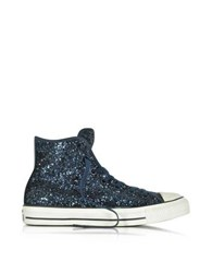 Converse All Star High Navy Glitter Women's Sneaker Navy Blue