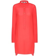 Mcq By Alexander Mcqueen Crepe Shirt Red