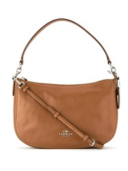 Coach 37018 Sv Sd Leather Fur Exotic Skins Calf Leather Brown
