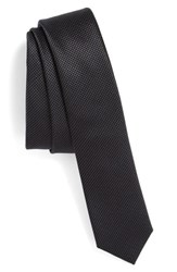 The Kooples Men's Check Jacquard Silk Tie Black