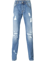 Ermanno Scervino Distressed Jeans Blue