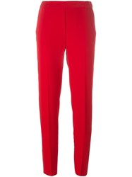 Maison Martin Margiela Mm6 Cigarette Fit Trousers Red