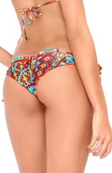 Women's Luli Fama Ruched Brazilian Bikini Bottoms