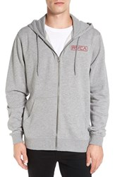 Rvca Men's 'Label' Graphic Zip Hoodie